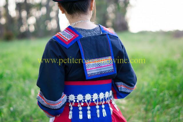 km-03241 Hmong Outfit:: Batik & Silver DIY OUTFITS
