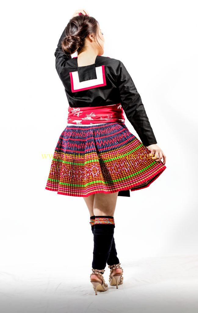 A2A0639-649x1024 Hmong Outfit :: Red Appliqué & Zig Zags DIY HMONG Hmong Outfit Series