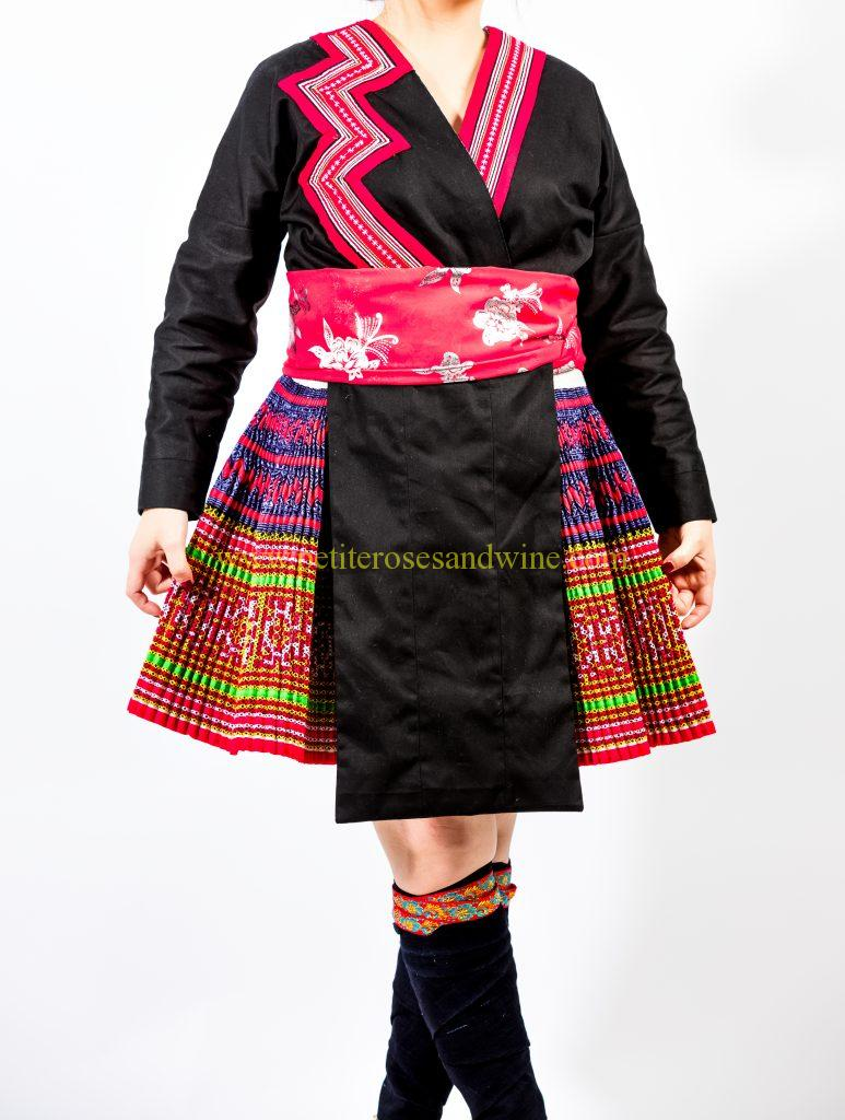 A2A0658-773x1024 Hmong Outfit :: Red Appliqué & Zig Zags DIY HMONG Hmong Outfit Series