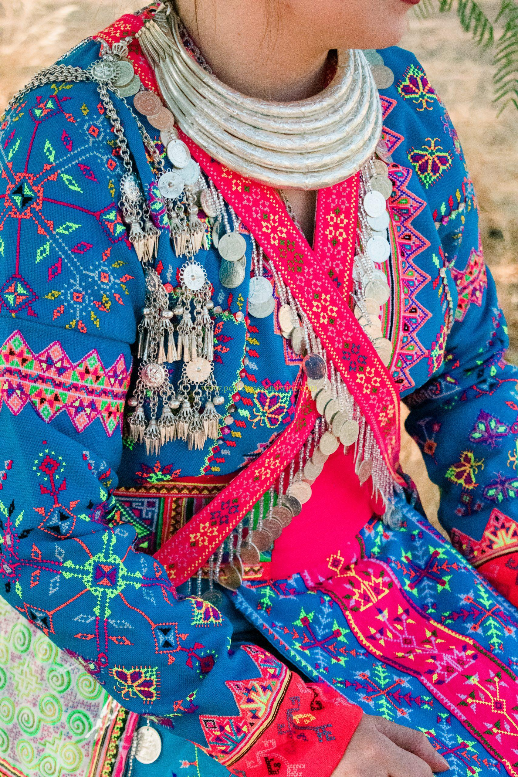 White Hmong Thailand Embroidery